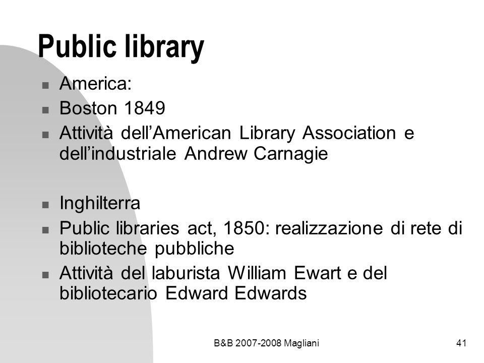 Public library America: Boston 1849