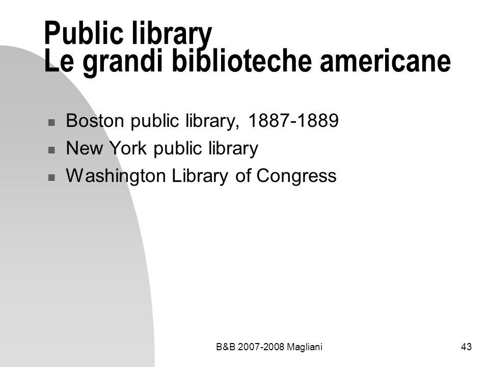 Public library Le grandi biblioteche americane
