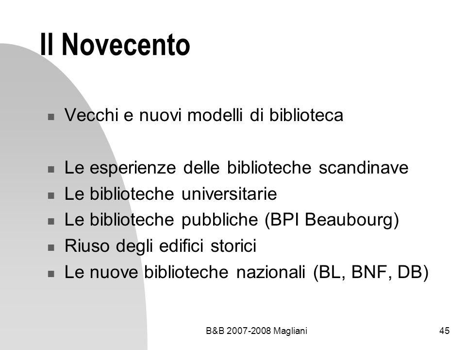 Il Novecento Vecchi e nuovi modelli di biblioteca