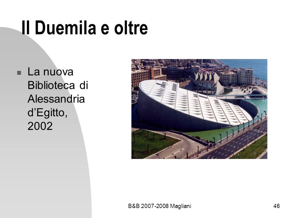 Il Duemila e oltre La nuova Biblioteca di Alessandria d'Egitto, 2002