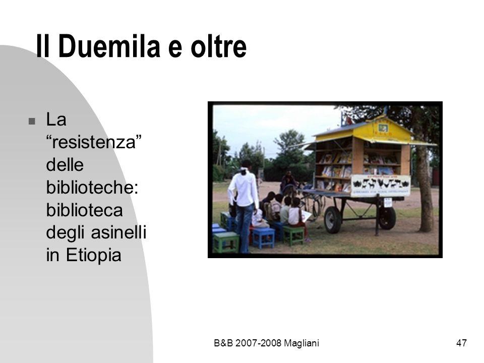 Il Duemila e oltre La resistenza delle biblioteche: biblioteca degli asinelli in Etiopia.