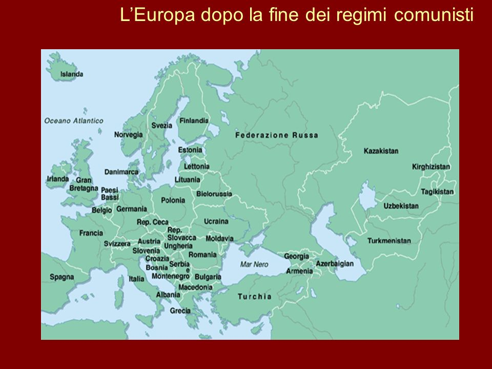 L'Europa dopo la fine dei regimi comunisti