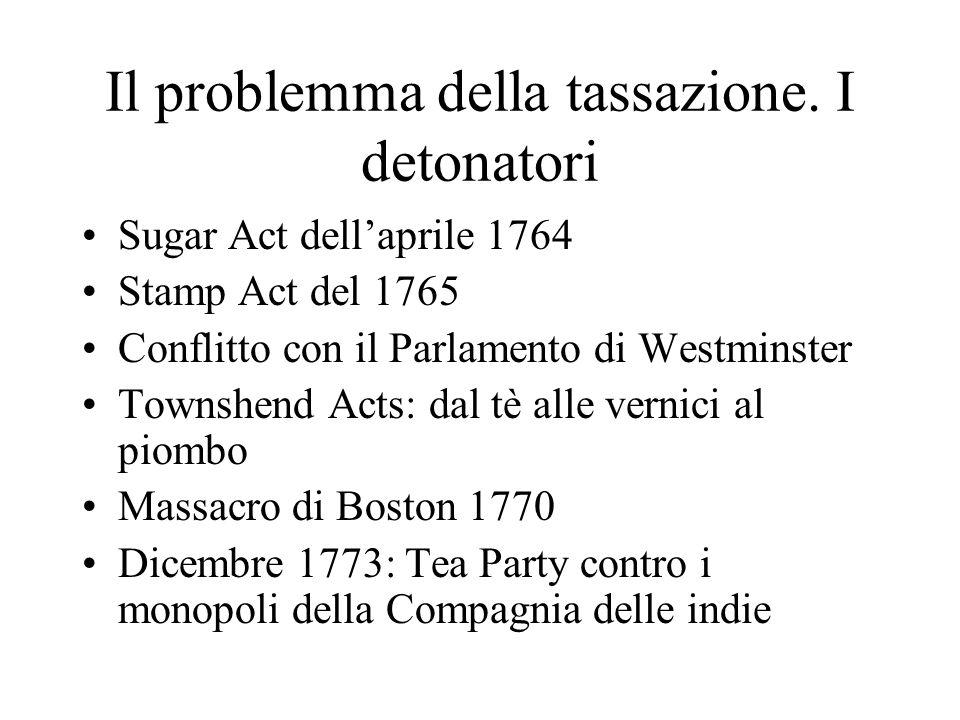 Il problemma della tassazione. I detonatori
