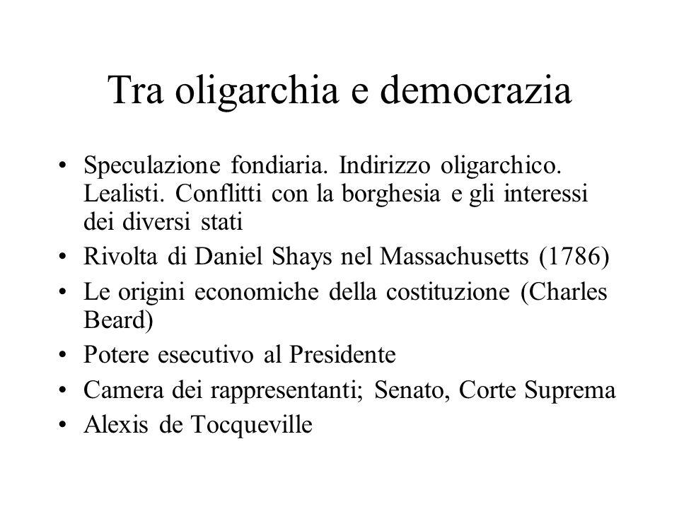 Tra oligarchia e democrazia