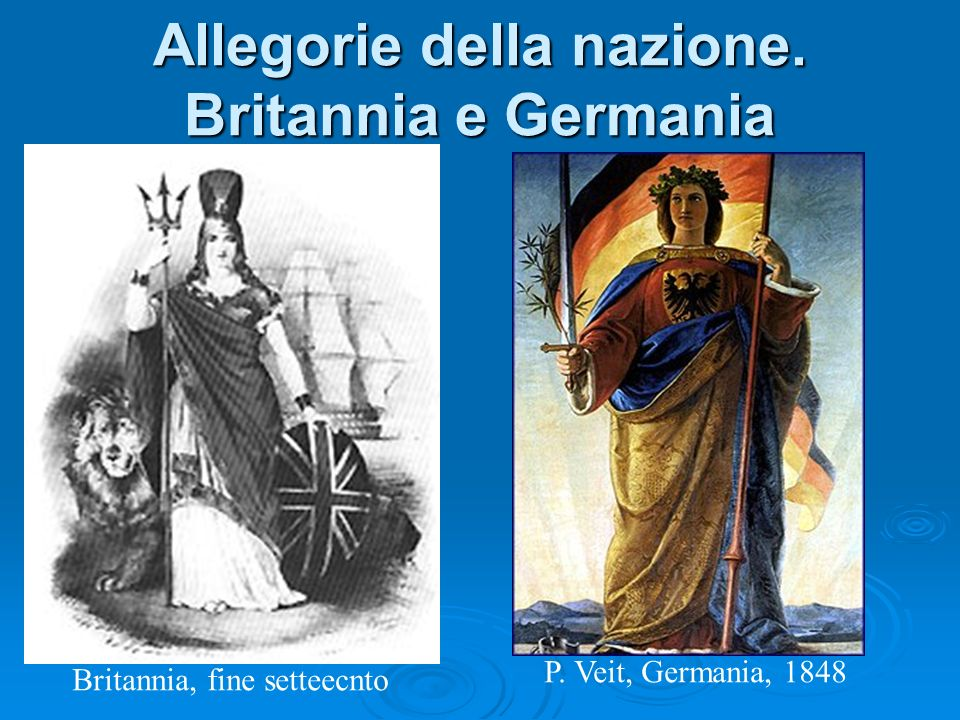 Allegorie della nazione. Britannia e Germania