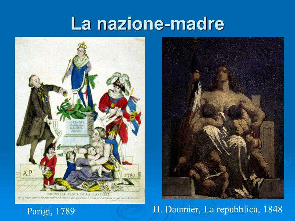 La nazione-madre H. Daumier, La repubblica, 1848 Parigi, 1789