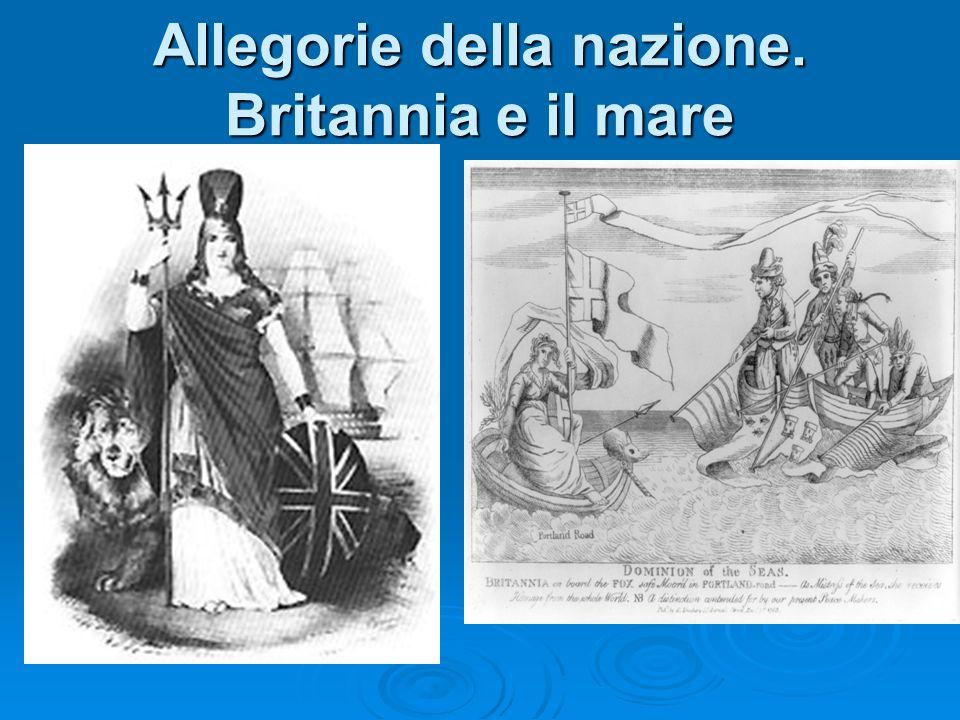 Allegorie della nazione. Britannia e il mare