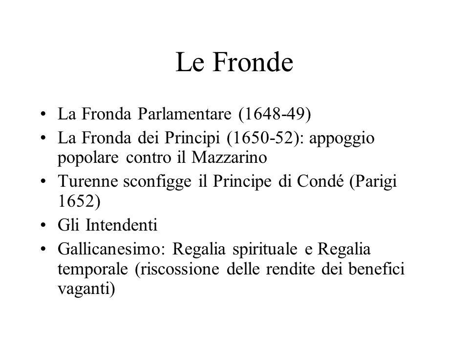Le Fronde La Fronda Parlamentare (1648-49)