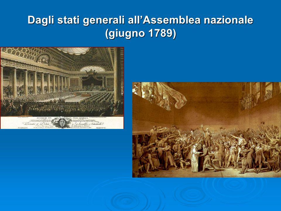 Dagli stati generali all'Assemblea nazionale (giugno 1789)