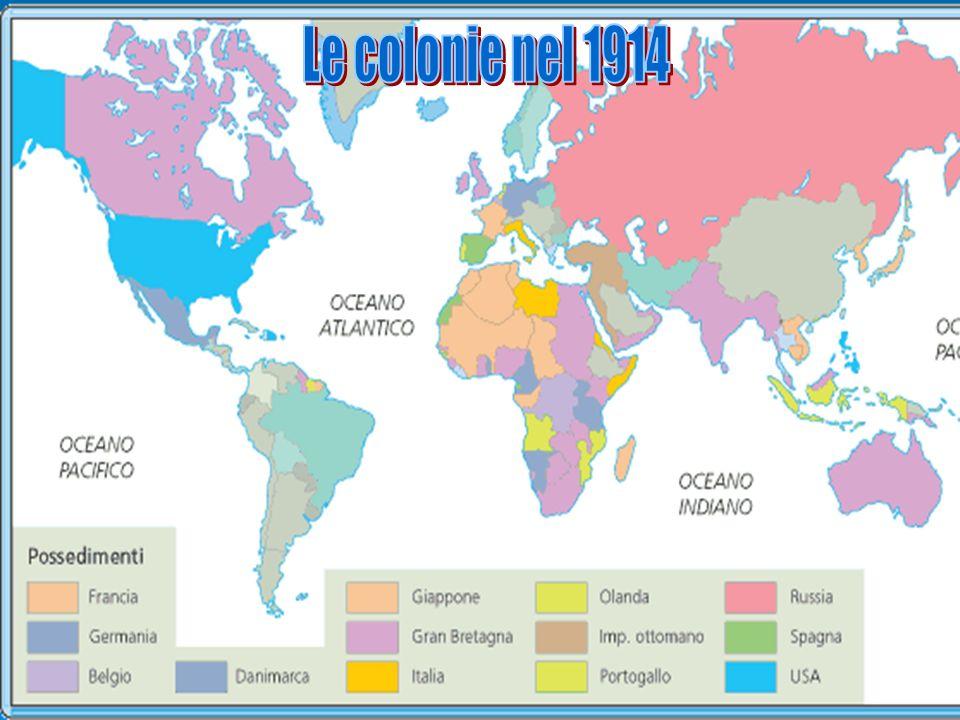 Colonie nel 1914 Le colonie nel 1914