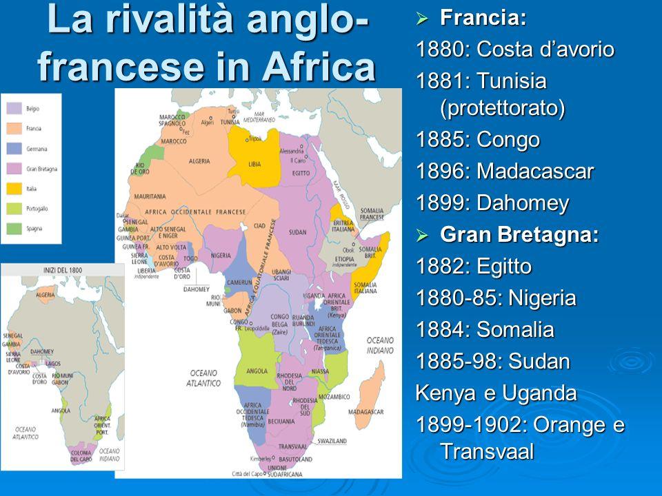 La rivalità anglo-francese in Africa