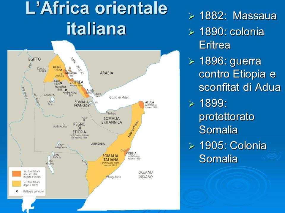L'Africa orientale italiana