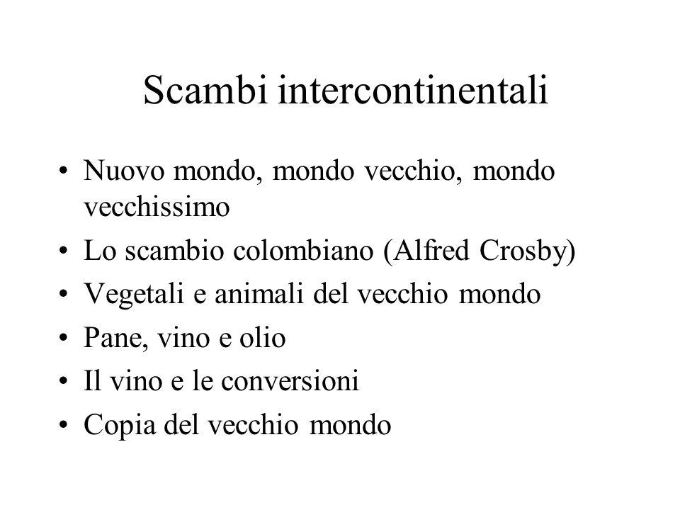 Scambi intercontinentali