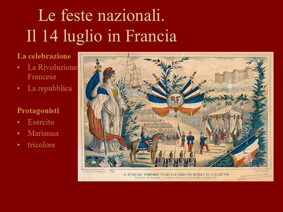 Le feste nazionali. Il 14 luglio in Francia