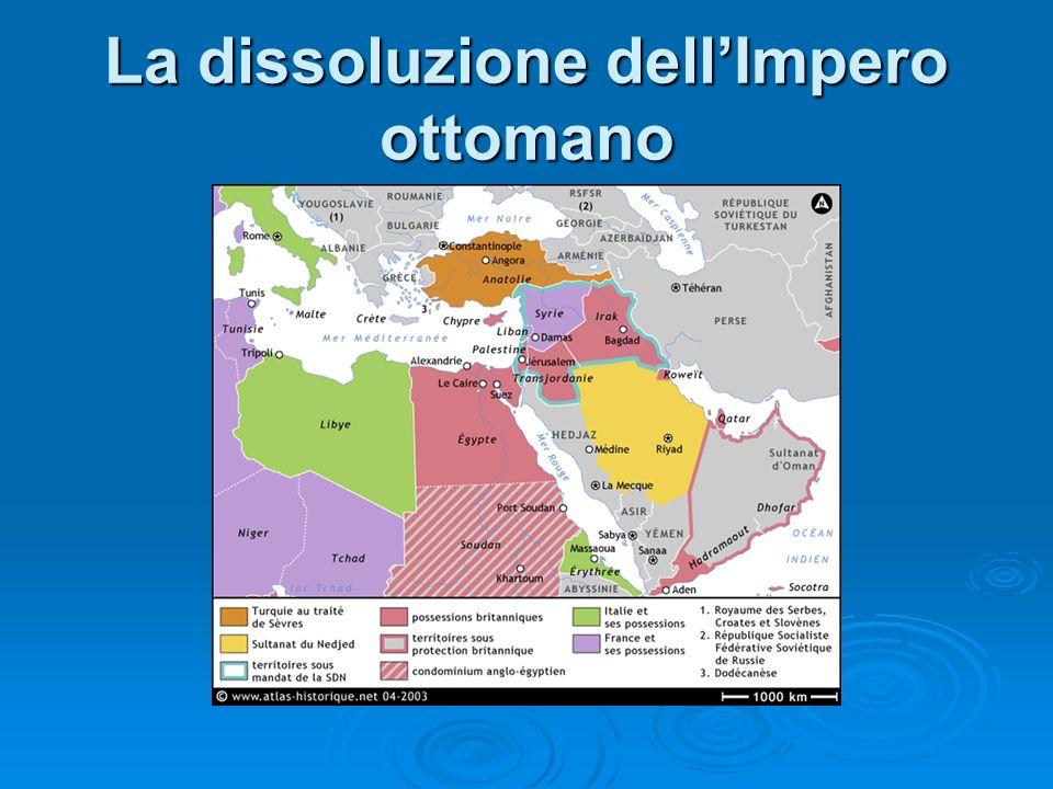 La dissoluzione dell'Impero ottomano