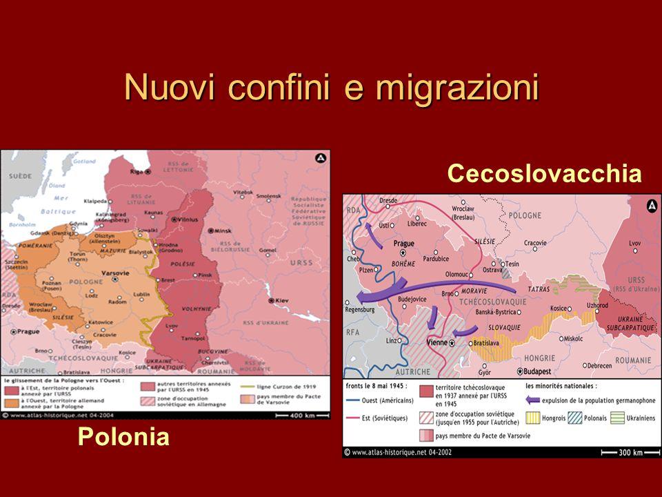 Nuovi confini e migrazioni
