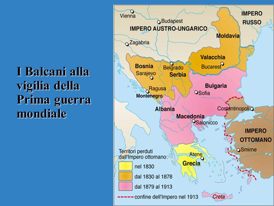 I Balcani alla vigilia della Prima guerra mondiale