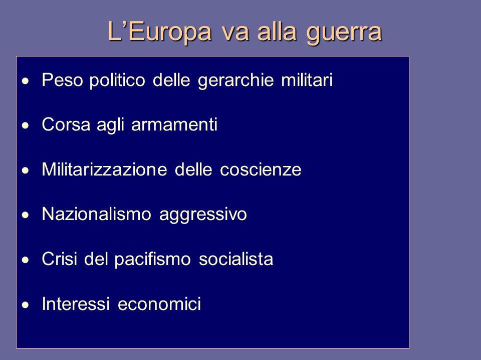 L'Europa va alla guerra