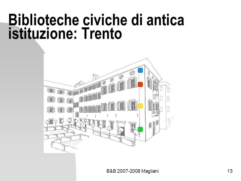 Biblioteche civiche di antica istituzione: Trento