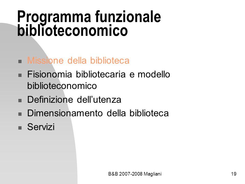 Programma funzionale biblioteconomico