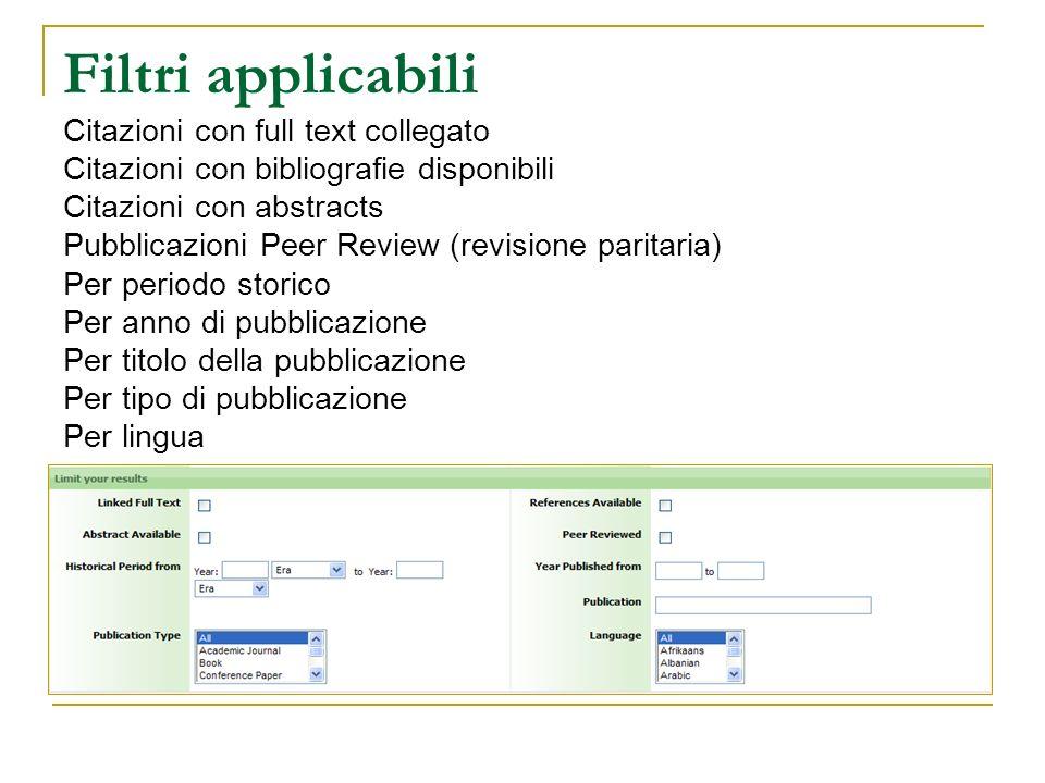 Filtri applicabili Citazioni con full text collegato Citazioni con bibliografie disponibili Citazioni con abstracts Pubblicazioni Peer Review (revisione paritaria) Per periodo storico Per anno di pubblicazione Per titolo della pubblicazione Per tipo di pubblicazione Per lingua
