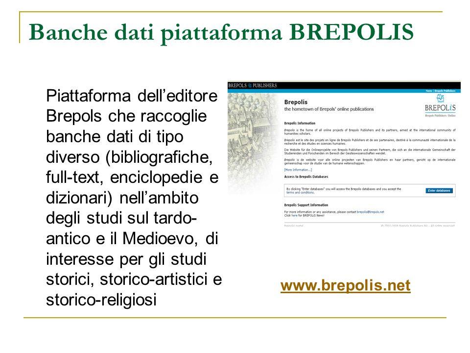 Banche dati piattaforma BREPOLIS