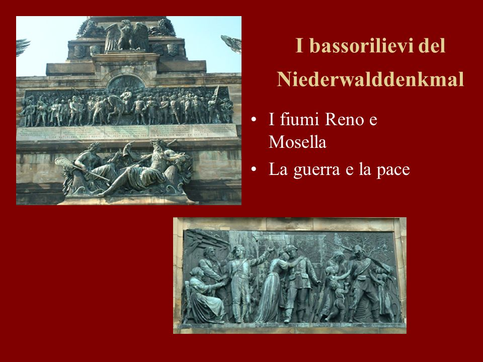 I bassorilievi del Niederwalddenkmal