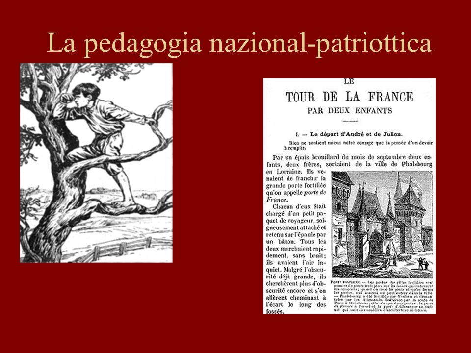 La pedagogia nazional-patriottica