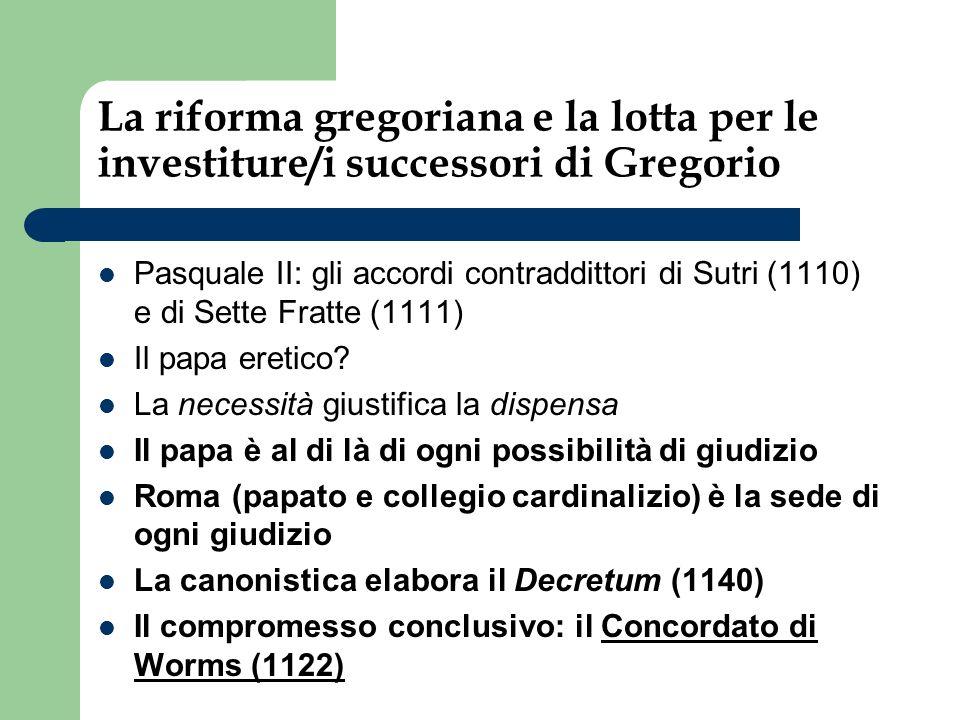 La riforma gregoriana e la lotta per le investiture/i successori di Gregorio
