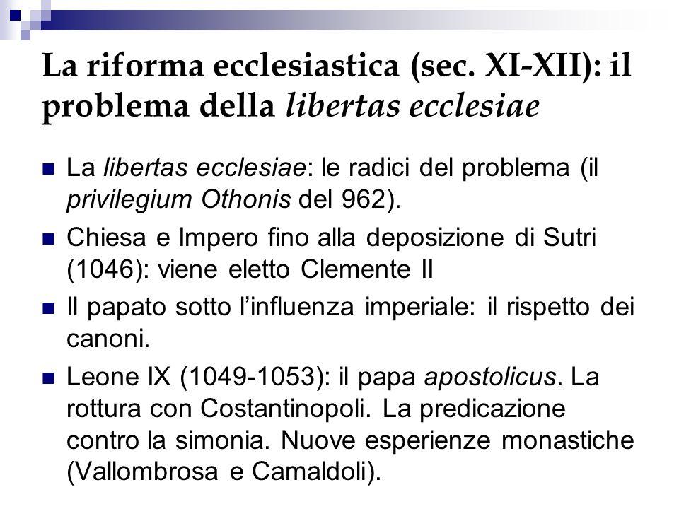 La riforma ecclesiastica (sec