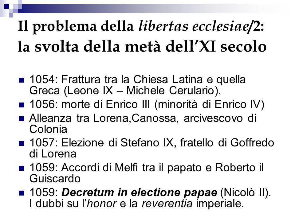 Il problema della libertas ecclesiae/2: la svolta della metà dell'XI secolo