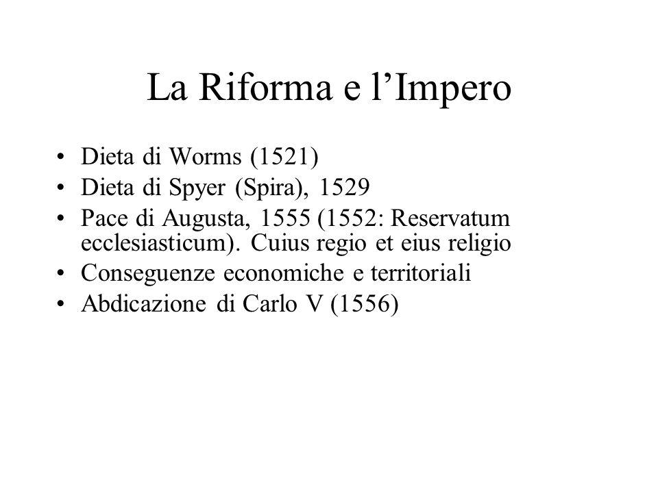 La Riforma e l'Impero Dieta di Worms (1521)