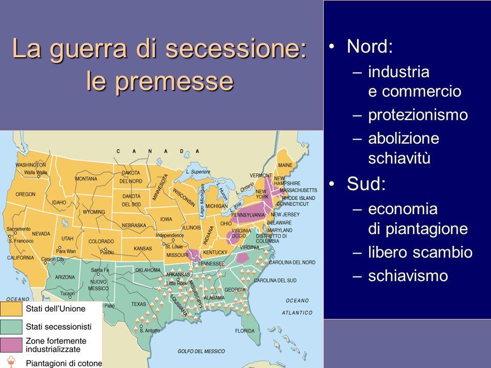 La guerra di secessione: le premesse
