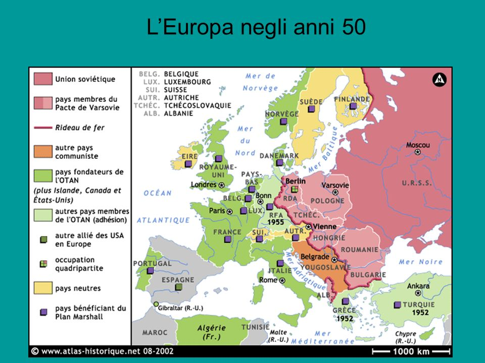 L'Europa negli anni 50