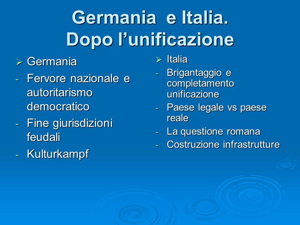 Germania e Italia. Dopo l'unificazione