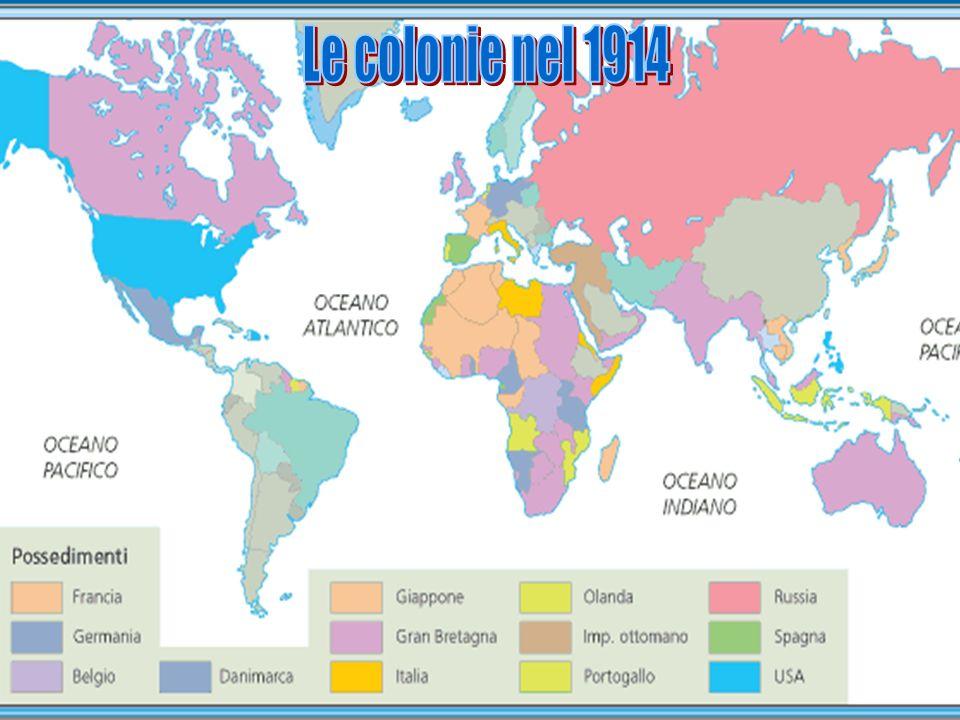 Le colonie nel 1914