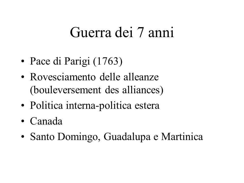 Guerra dei 7 anni Pace di Parigi (1763)