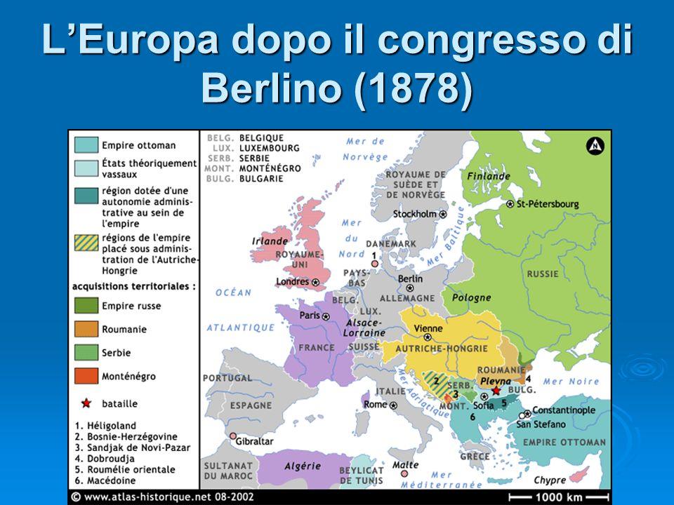L'Europa dopo il congresso di Berlino (1878)