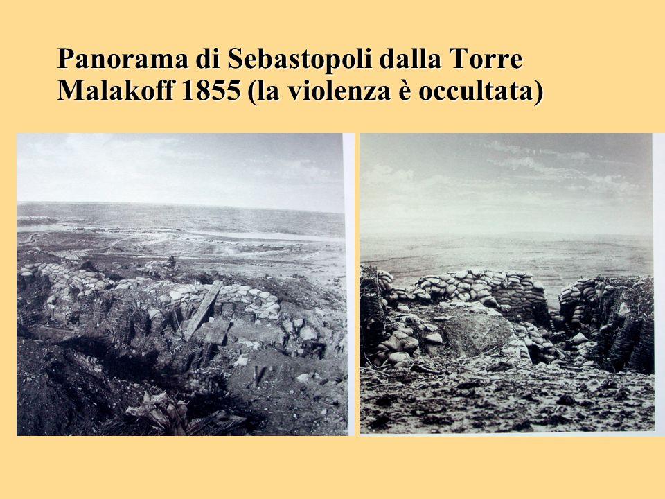 Panorama di Sebastopoli dalla Torre Malakoff 1855 (la violenza è occultata)