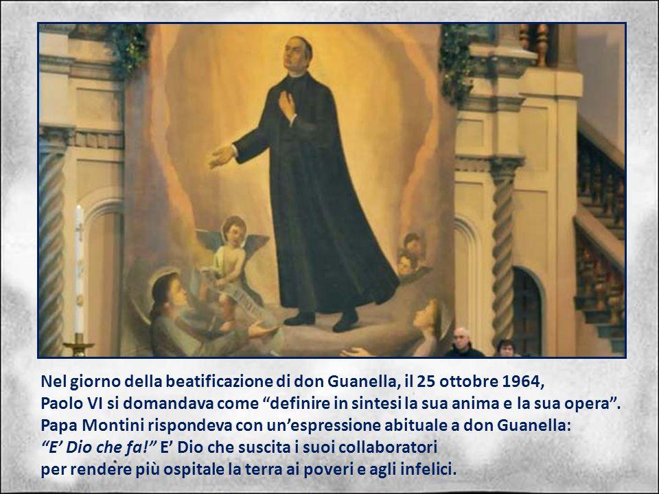 Nel giorno della beatificazione di don Guanella, il 25 ottobre 1964,