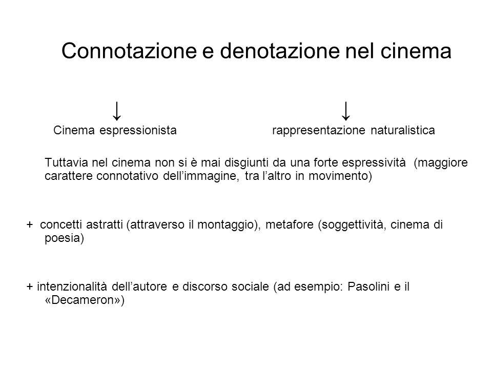 Connotazione e denotazione nel cinema