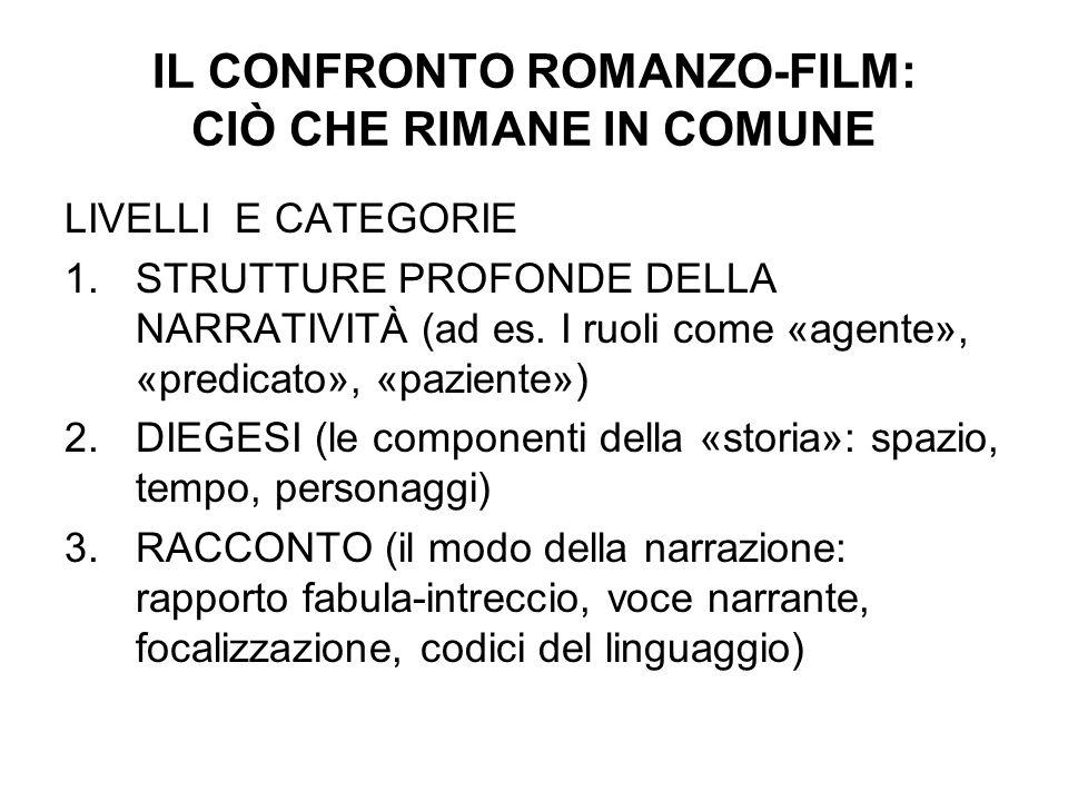 IL CONFRONTO ROMANZO-FILM: CIÒ CHE RIMANE IN COMUNE