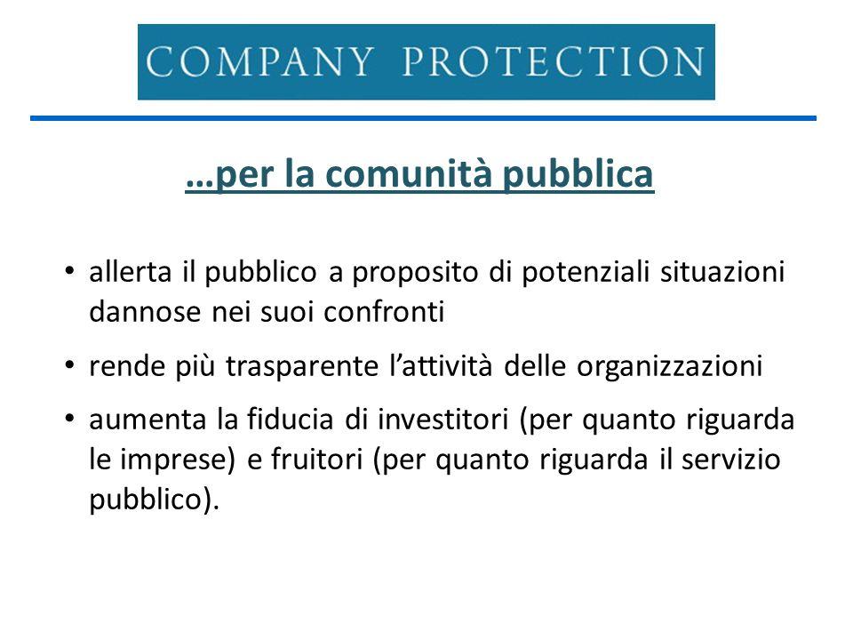 …per la comunità pubblica