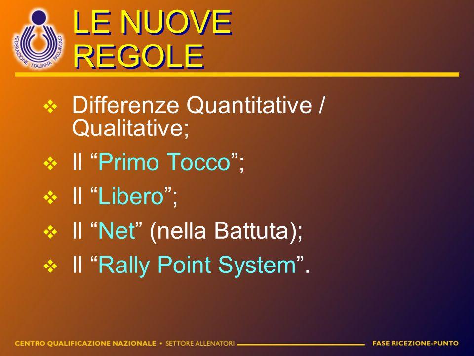 LE NUOVE REGOLE Differenze Quantitative / Qualitative;