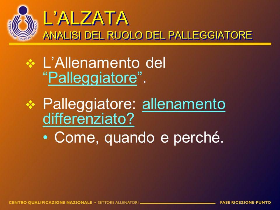 L'ALZATA ANALISI DEL RUOLO DEL PALLEGGIATORE