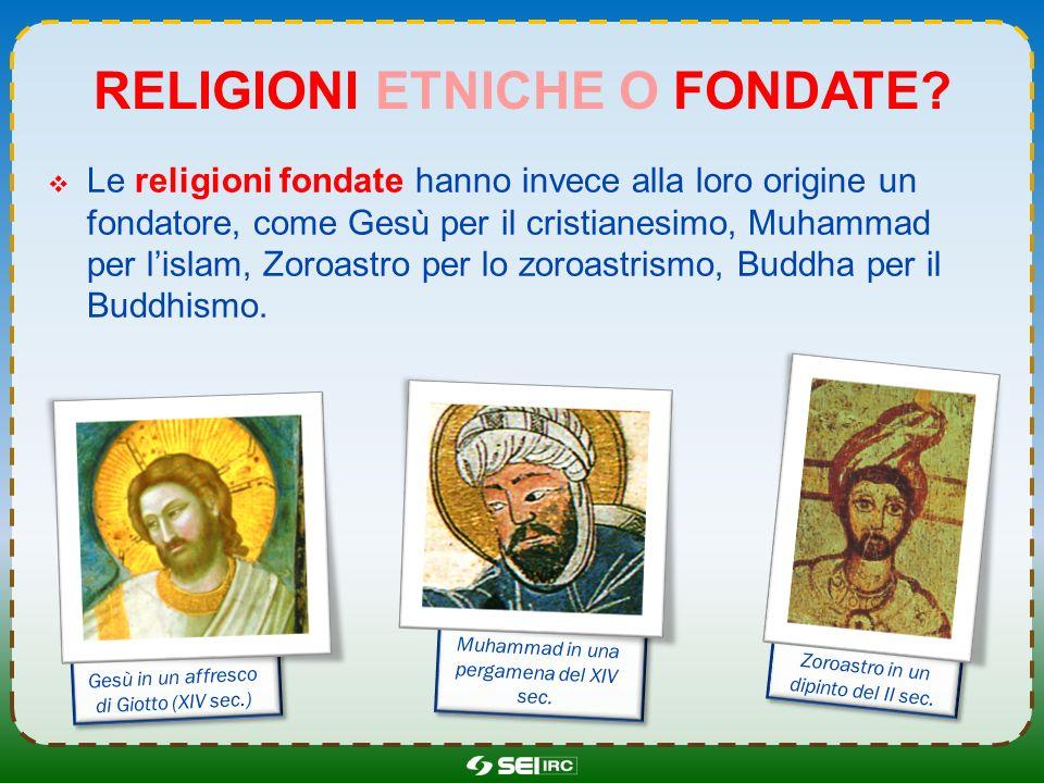 Religioni etniche o fondate