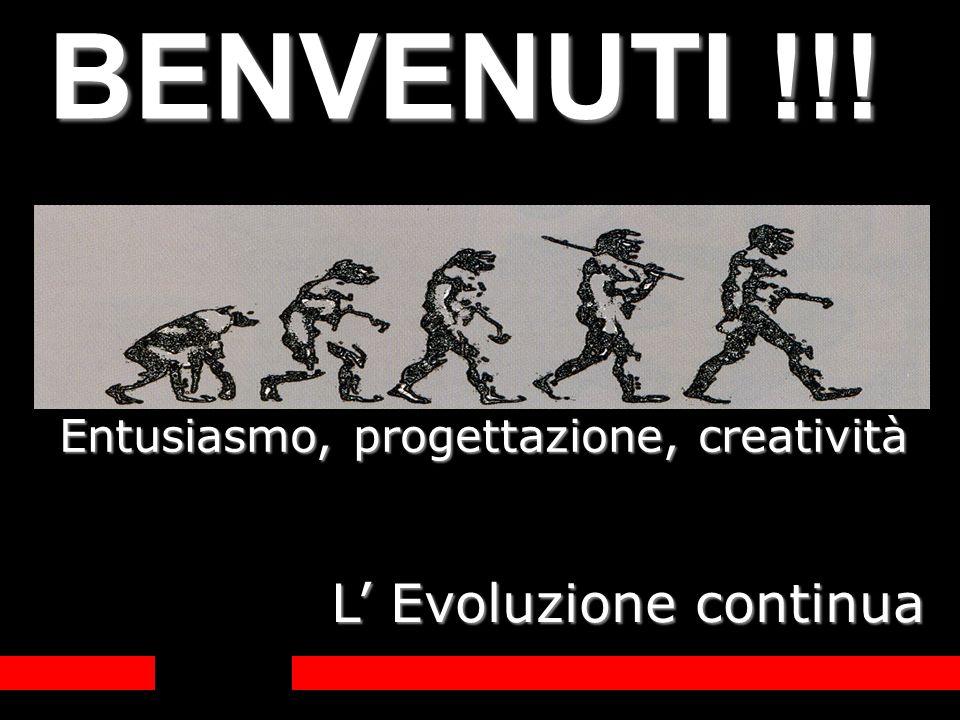 BENVENUTI !!! L' Evoluzione continua