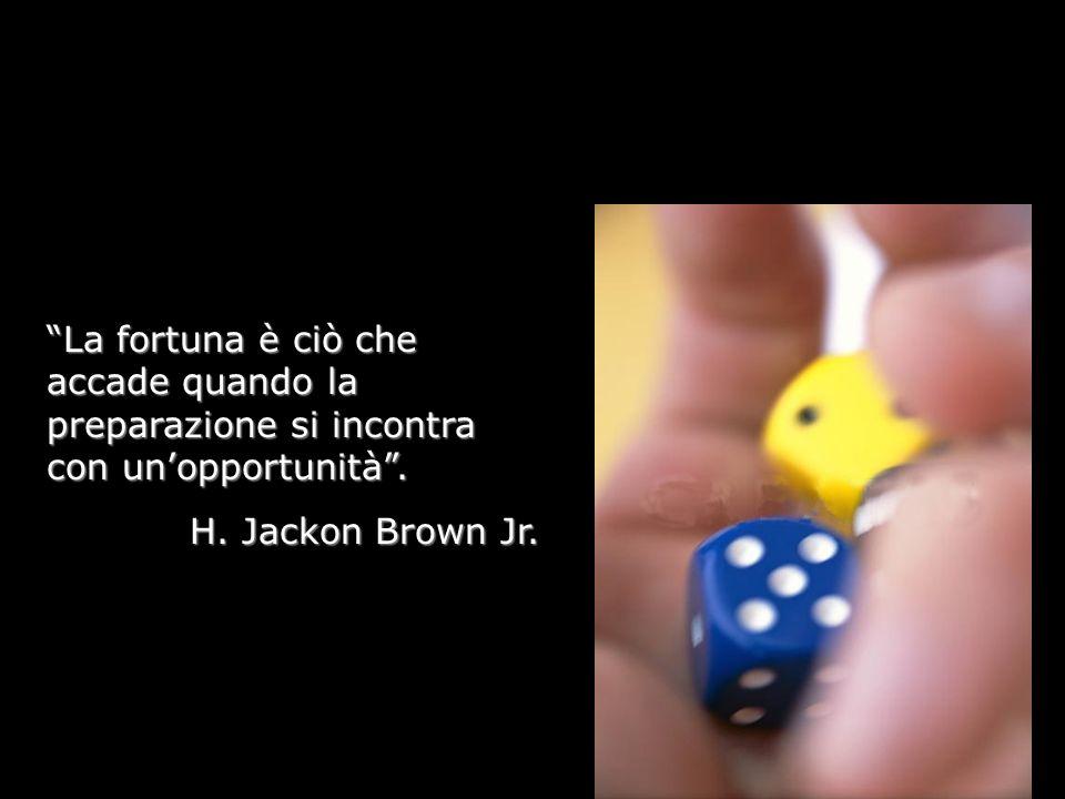 La fortuna è ciò che accade quando la preparazione si incontra con un'opportunità .