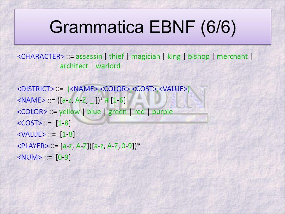 Grammatica EBNF (6/6)