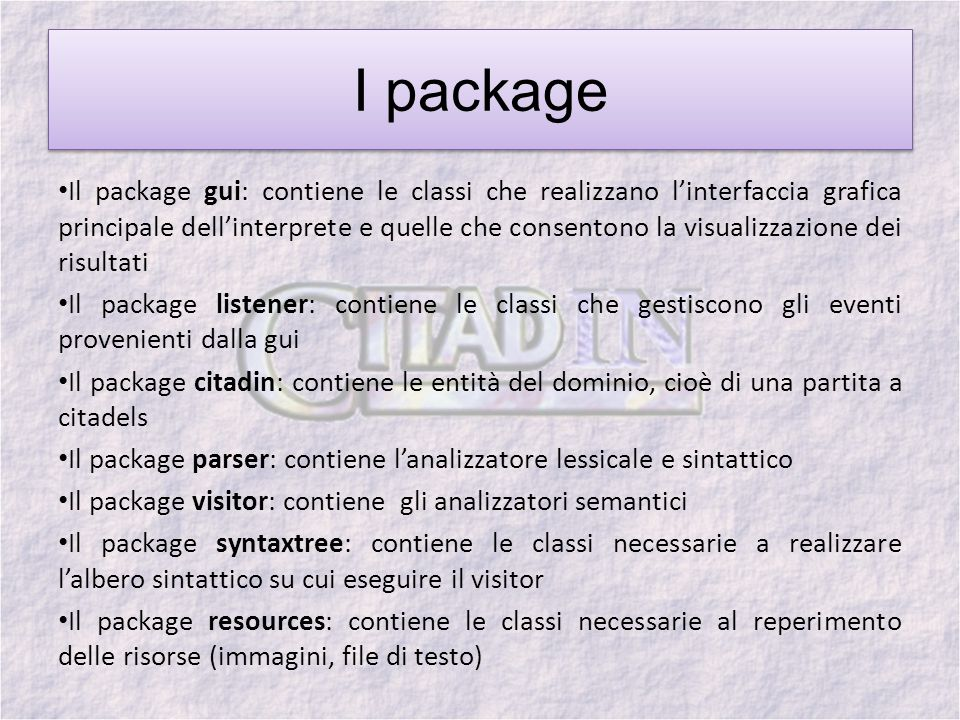 I package